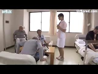 Cute Nurse Sex Creampie Service For Older Patient 04