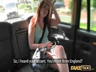 Dutch Girl In English Cab
