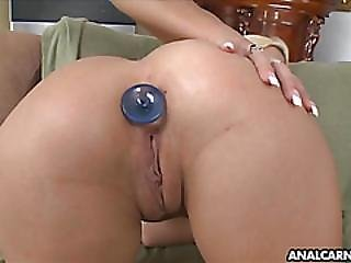 Sexy Blonde Loves Her Ass Played With
