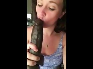 Iphone Teen Plays W/ Big Black Dildo
