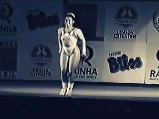 aerobic, cul, gros cul, brésilienne, fétiche, masturbation