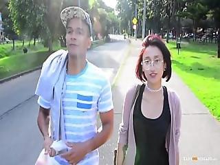 Carne Del Mercado - Colombian Teen Luna Castillo Gets Picked Up And Fucked Hard