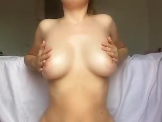 Amateur Teen Playing With Her Natural Boobs