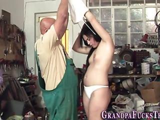 Urinating Ho Bangs Gramps
