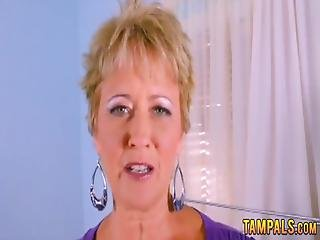 Hot Blonde Gilf Teasing With Her Firm Tits And Rubbing Her Snatch