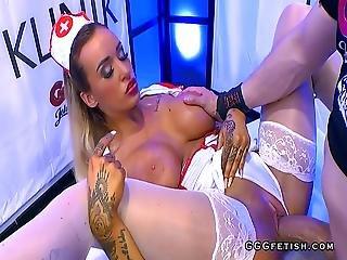 Busty Nurse Czech Daisy Lee In Cumshots Party