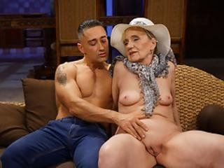 Naughty Granny Nanney Pounded By A Young Dick