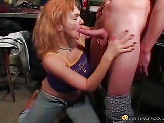 Older Aunt Sucks Knob A Peasant