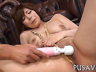 Pussy stretching Asian slut