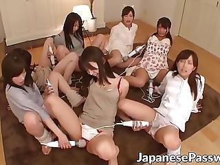 asiatique, bonasse, sexe en groupe, japonaise, sale, fête, sexe, pute, Ados, jouets