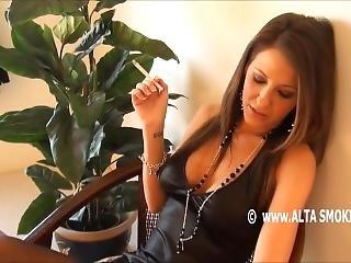 Sexy Lexi Stone Smoking Cigarette