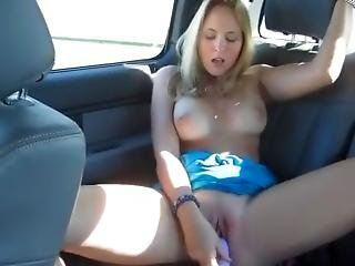 Masturbating In The Back Of A Car