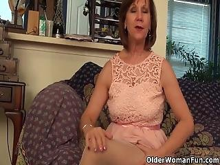 American Gilf Penny Teases You And Her Nyloned Pussy Before She Quickly Rubs One Out Bonus Video: Usa Granny Phoenix Skye