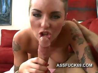Tattooed Prostitute Christy Mack Blowjob