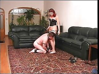 Sexy Hottie Collars And Blindfolds Her Slave