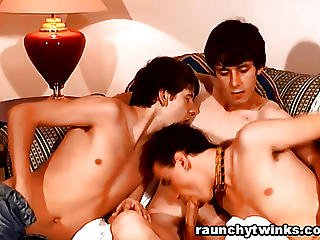 Cute Teen Boys Got Horny And Have Threesome Sex