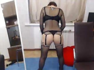 Jenaonline Asian Girl In Fishnet Top Doing Sexy Stand