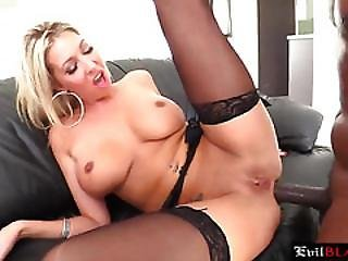 Stunning Blonde Porn Star Finally Loving Black Big Dick