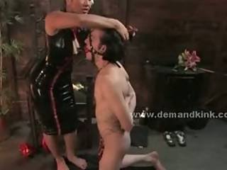 Brunette Asian Mistress Dominatrix Torturing Sex Slave In Sado Ma
