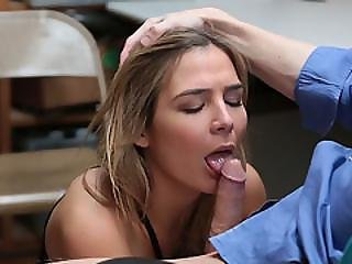 Sexy Blonde Babe Blair Bangs With The Officer