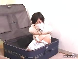 Girl Bound And Gagged In Suitcase