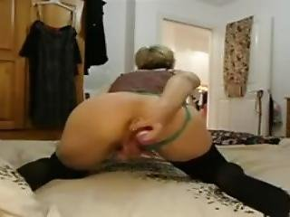 45 Year Old Granny Drills Her Own Ass With A Toy