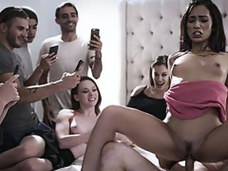 Teen Fucked At Party In Public While Being Recorded!