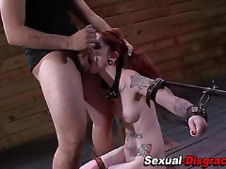 Feisty Sex Slave Throated