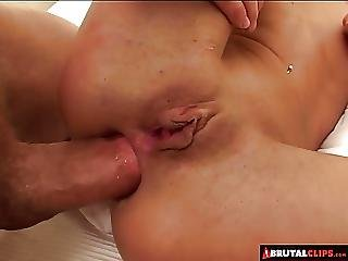 Brutalclips Poor Slut Is Made To Lick Jizz Off The Floor