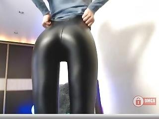 Leather Leggings Super Tight Long Version
