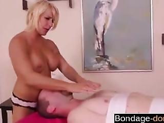 Busty Milf Dominates A Poor Man - Bondage-dom