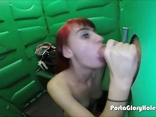 3 Horny Cock Hungry Chicks Sucking Strangers In Gloryhole
