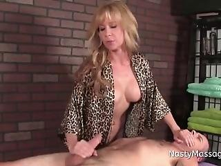Experienced Masseuse Tina Gets Insulted By Horny Fucker And Gets To Play With His Cock