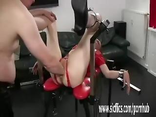 Fisting Insatiable Teen Slut In Bondage