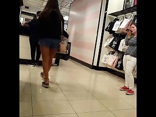 Candid Voyeur Latina Teen Hot Thick Legs Beauty Shopping