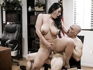 Angela White Shows Her Huge Tits And Got Fucked