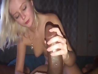 Blond Young Woman - Well Hung Black Man