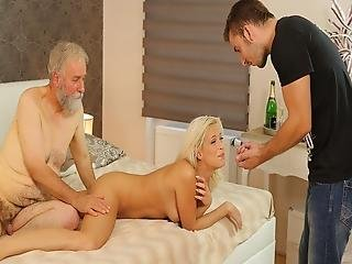 Daddy4k Naughty Old Man Drags Sons Blonde Gf Into Unplanned