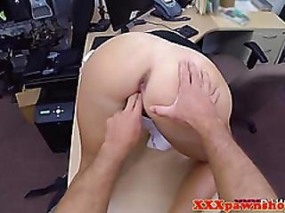 Real Pawnshop Amateur With Booty Fucked Doggystyle