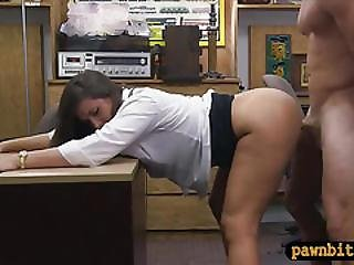 Huge Ass Babe Pawns Her Twat And Nailed In The Backroom