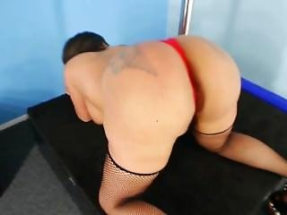 Big Booty Nona Malone Black And Red Outfit