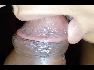 Ultra Close-up Indian Desi Blowjob