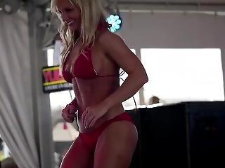 Blonde Thick Cougar Teacher Dancing