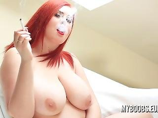 Busty Alexsis Faye Strip And Smoking Only On Myboobs.eu