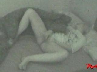Midnight Masturbation Session Caught On Hidden Cam