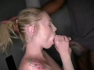 Blonde Dutch Slut Kasandra Swallows Thick Bbc Cum In Her First Gloryhole