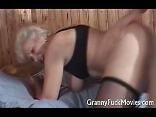 Hairy Horny Granny At Sauna Bang