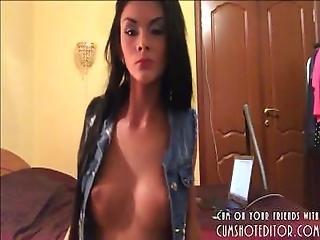 Hot Camgirl Striptease