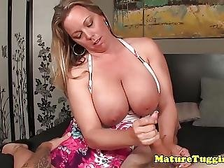 Bigtitted Milf Amber Lynn Bach Jerking Cock