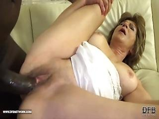 Granny Has Sex With Black Man And Enjoys Ass Drilling